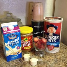 Quaker Oats Shake Recipe is part of Nutribullet smoothies - Growing up as a child I used to dislike quaker oats but now I loooove it I add it to my smoothies Check out my Quaker Oats Shake Recipe, you will love! Oatmeal Smoothies, Fruit Smoothies, Healthy Smoothies, Healthy Drinks, Healthy Foods, Protein Foods, Pb2 Smoothie, Strawberry Oatmeal Smoothie, Smoothies With Almond Milk
