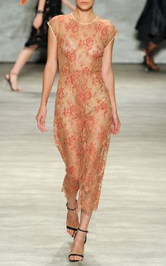 New York Fashion Week, preorder TOME Spring 2015 Runway Trunkshow Look 17 - Chantilly Lace Double Dart Dress