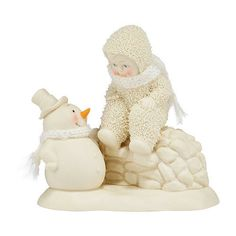 SNOWBABIES New Friends with Snowman figurine  Dept 56 NEW IN BOX