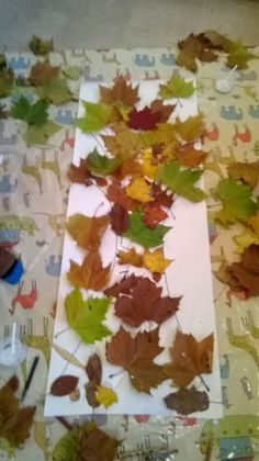 Autumn leaves tree pre school craft