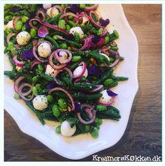 Grøn bønnesalat med pesto og mozzarella