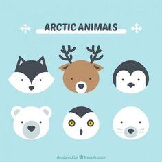 Cute arctic animals Vector   Free Download: