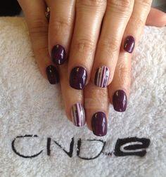 CND L Natural Nail Overlays with Shellac & nail art  www.facebook.com/DivineByDesignCNDNails