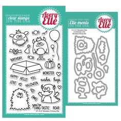Avery Elle Clear Stamp and Die SET14MNAE Monsters Set  zoom image