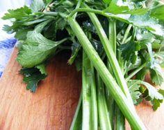 celery on cutting board