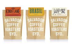 Salvador Coffee Roasters Branding and packaging design