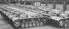 New Stug III,s & Panzer III,s at the factory.