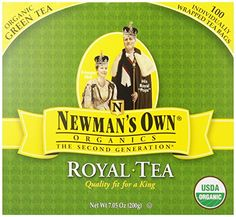 awesome Newman's OwnOrganics Royal Tea, Organic Green Tea, 100-Count Individually Wrapped Tea Bags (Pack of 5)