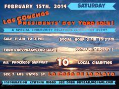 Sábado 15 de Febrero: Venta de Garage en las Conchas en favor de varias organizaciones de beneficencia locales