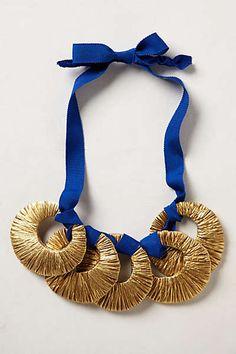 Anthropologie - Gilded Crescent Bib Necklace