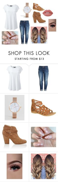 """""""cute and curvy"""" by valarienicole on Polyvore featuring Lands' End, Melissa McCarthy Seven7, ASOS Curve, rag & bone and Lime Crime"""