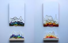 Maud Vantours – 3D Paper Art | purple woods