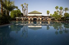 Photo Gallery for Hotel La Mamounia in Marrakech - Morocco Royal Palm Marrakech, Marrakech Travel, Marrakech Morocco Hotels, Mamounia Marrakech, Piscina Do Hotel, Best Romantic Getaways, Palace, Studios, Most Luxurious Hotels