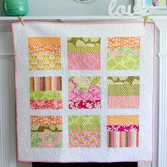 Amy Butler Blocks Quilt - Large Baby/Toddler Quilt via Etsy