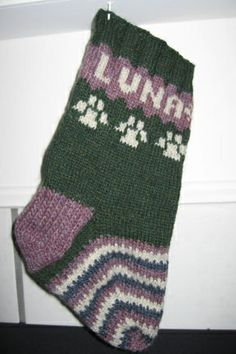 Luna's Christmas Stocking by kfife, via Flickr in Mountain Mohair