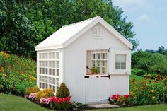 Little Cottage Company 8X12 Colonial Gable Greenhouse | Free Shipping