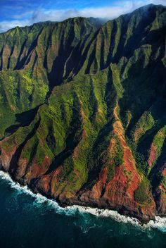 kauai Na Pali Coast aerial