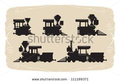 Types Of Locomotives. Toy, Vector - 111189371 : Shutterstock