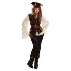 Adulti Da Uomo Pirata Caraibi Cappello Eyepatch Bandana Costume Vestito