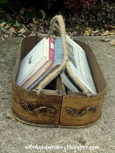 """SALVAGED WHIMSY: Two Drawers Repurposed into a """"Basket"""""""