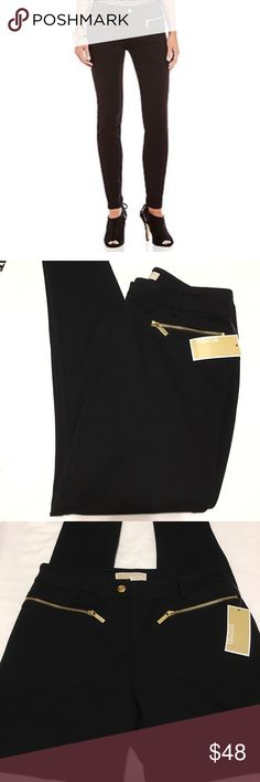 🆕 Michael Kors Pants Michael Kors Black skinnies are a must in any modern wardrobe. The version is renewed for the season with chic zipper accents. Complement them with an embellished knit and stylish boots for easy glamour. Michael Kors Pants Skinny