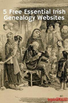 5 Free Essential Irish Genealogy Websites Irish Genealogy Research Family History Bespoke Genealogy Free Genealogy Sites, Genealogy Research, Family Genealogy, Genealogy Forms, Ancestry Websites, Genealogy Humor, Genealogy Chart, Good News, History Jokes