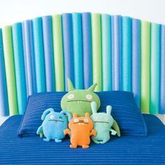 Here's a perfect new use for summer: pool noodles as a headboard!