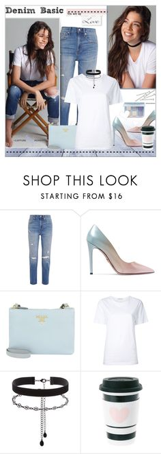 """Basic Look!!"" by alves-nogueira ❤ liked on Polyvore featuring Madewell, Prada, Astraet, Accessorize, BOBBY, Anastasia Beverly Hills, RABEANCO, basic, polyvoreeditorial and DenimStyle"