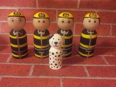 Firemen & Dalmation Peg Collection. $30.00, via Etsy.