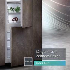 Unsere studioLine Einbau-Kühlschränke verfügen nicht nur über hervorragende Kühleigenschaften, sondern fügen sich ganz unauffällig in deine Traumküche ein. Ein Muss für die Küche eines jeden  Designliebhabers. #siemenshome #siemenshomeat #enjoysiemens #küchendesign #küchendetails #designinspiration #styleküche #hausgeräte Küchen Design, Star Trek, Projects To Try, Places To Visit, Inspiration, Interior, Stuff To Buy, House, Ideas