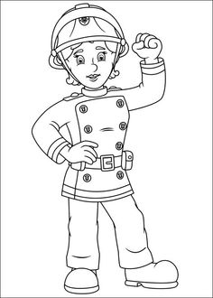 13 Best Fireman Sam Coloring Pages Images On Pinterest Coloring - Fireman-sam-coloring-page
