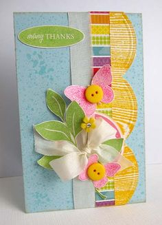 ~ many thanks ~ - Scrapbook.com - #scrapbooking #cardmaking #echopark #thermoweb