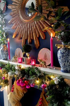 Blogger Burnout and My Christmas Mantle