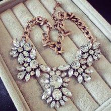 SPX5370 Fashion Big Chunky Statement Crystal Necklace crystal bib waterdrop statement necklace(China (Mainland))