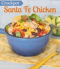 Crockpot Santa Fe Chicken - this is so easy and so healthy.  Love this recipe. by tanisha