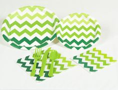 Chevron Green Party Pack, 94243