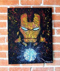 Iron Man of Marvel Comics Avengers Acrylic on by RockinARTitude, $15.00?