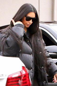 Kim Kardashian wearing  Saint Laurent 59mm Sunglasses