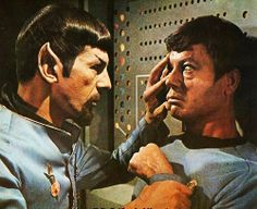 Mirror!Spock forcing a mind meld on Dr. McCoy; this scene makes me shudder every time!