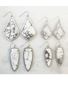 Sky Earrings in White Howlite - Kendra Scott Jewelry
