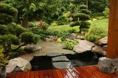 Rocks are a big part of the Japanese Garden.  From Sunset Magazine by Jim McCausland about Jim Guthrie's Washington garden.