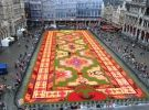 Brussels was adorned Turkish carpet with flowers.