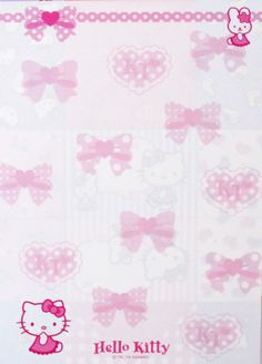 Sanrio Heart Hello Kitty Message Memo Pad Kawaii paper style and more Free Printable Not My Sugar Bits Owned