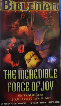 BIBLEMAN ADVENTURE, THE: THE INCREDIBLE FORCE OF JOY (VHS, 2000) v5
