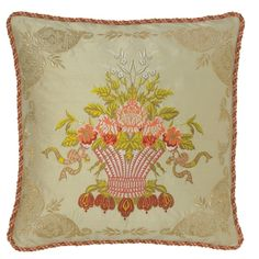 30 Best Leaves Embroidered Throw Pillows For Couch Images