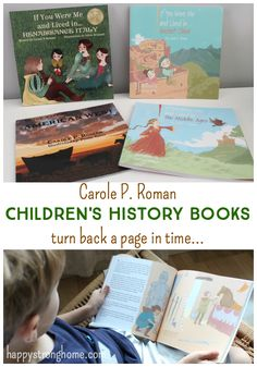 These children's history books from Carole P. Roman put the child as the narrator and let them really experience the details of culture and historical context. Cultural studies, homeschooling classrooms, teachers of all kinds can use these books to study history in a fresh way. #hsreviews #ad