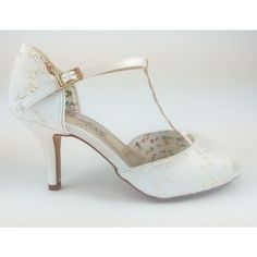 Perfect Winnie Ivory Lace Wedding Shoes - Elegant Steps Exclusive