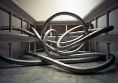 David DiMichelle, Psedodocumentation: Hose Drawing, 2008, Digital Chromogenic Print, 102 x 142 cm.