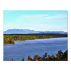 Mt. Katahdin - I95 Scenic Turnout Photo Print by KJacksonPhotography --  Taken 09.13.2014 From the scenic turnout off of I95, mile marker 252, Mt. Katahdin with Salmon Stream Lake in the foreground. Mt.Katahdin is the tallest peak in the state of Maine at 5,267 ft. PC:188.225 #nature #photography #mtkatahdin #scenic #landscape #photoprint #photoprints