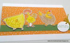 3 verrückte Hühner á la carte   http://eris-kreativwerkstatt.blogspot.de/2017/01/3-verruckte-huhner-la-carte.html  #stampinup #teamstampingart #ostern #karte #grußkarte
